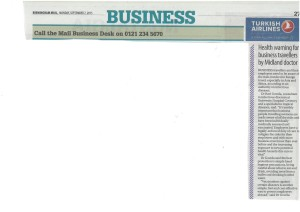 Travel Klinix featured in The Birmingham Mail, 7/9/2015