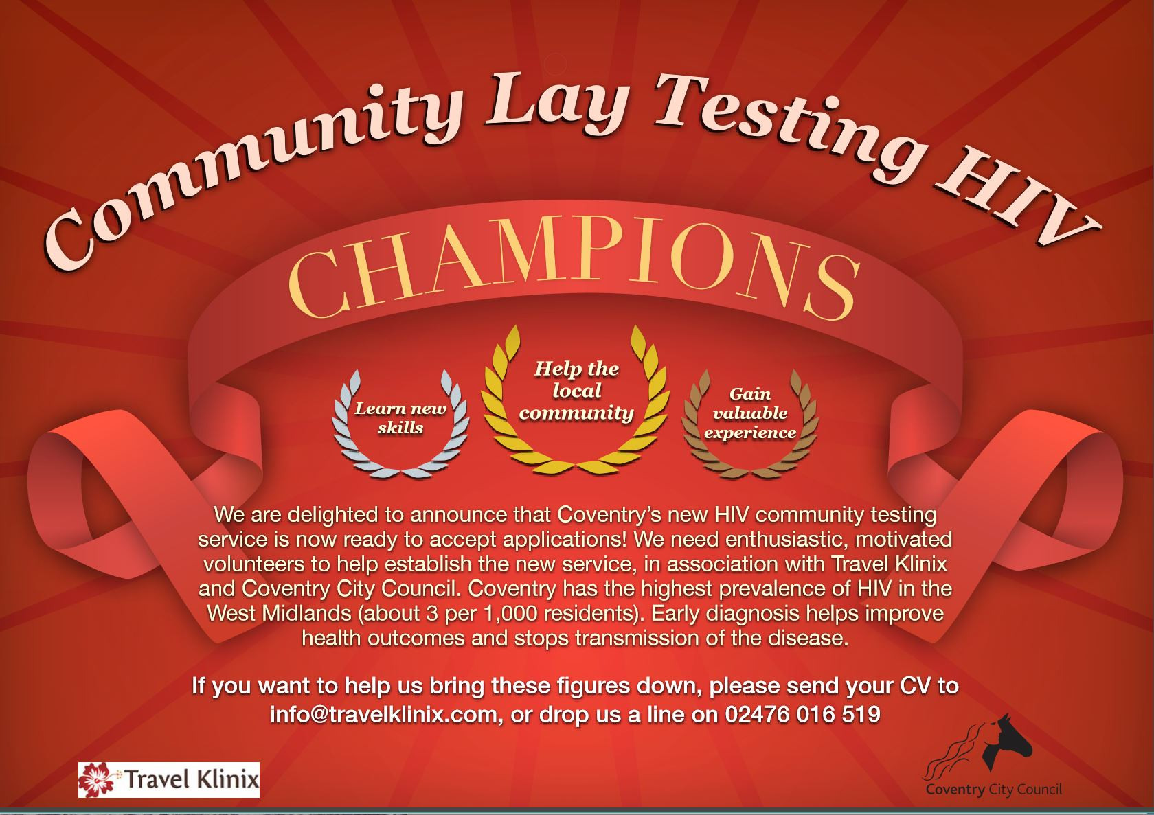 coventry, hiv, aids, travel, travel vaccinations, volunteer