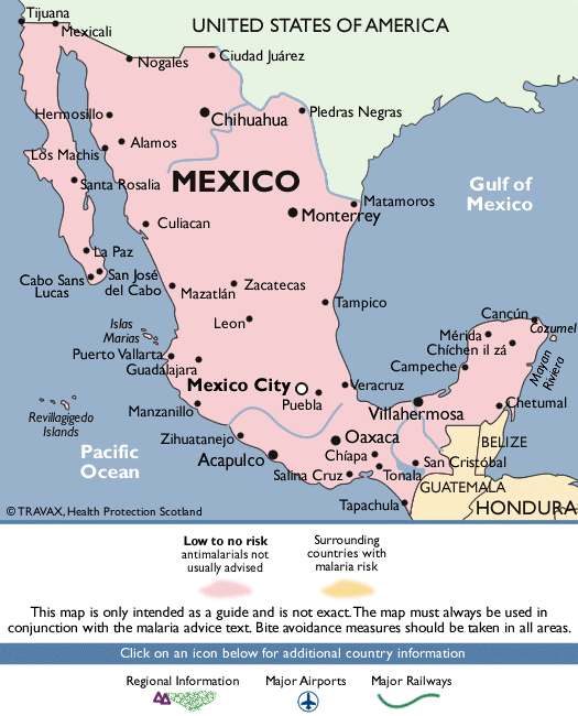 Malaria Map of Mexico